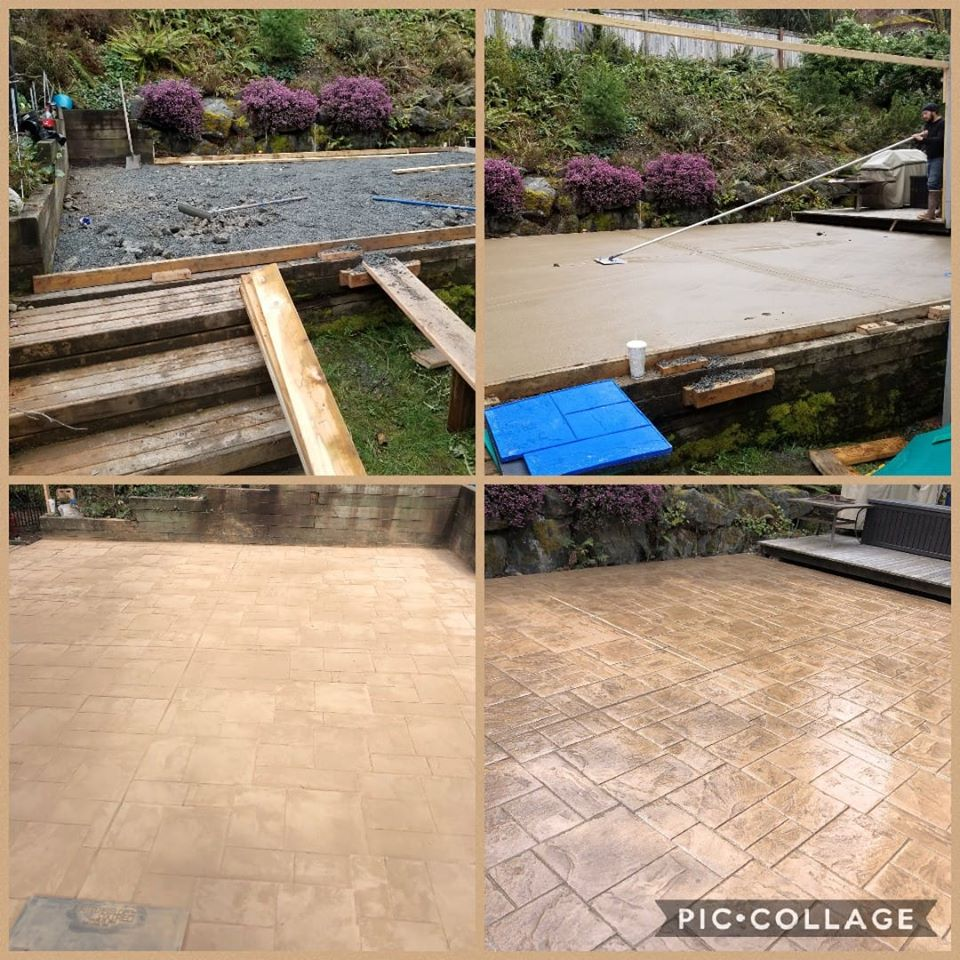 Back Patio Stamped Ashler Slate