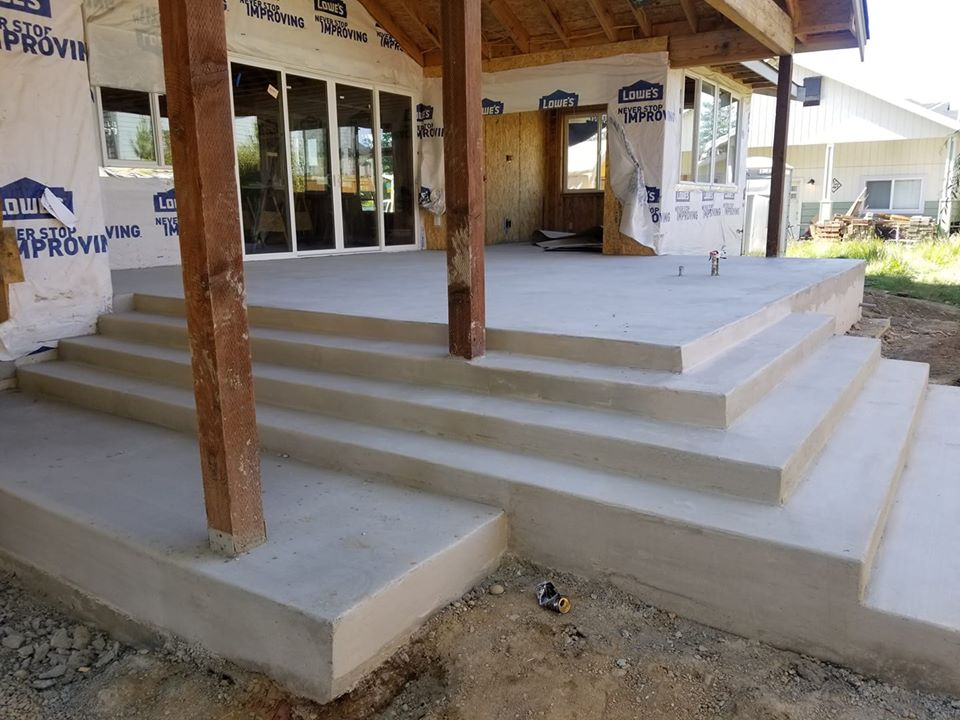 Back Patio With Steps