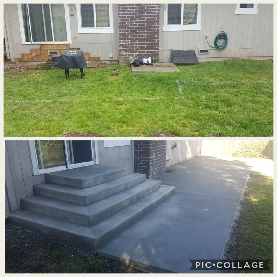 Back Patio and Steps Concrete