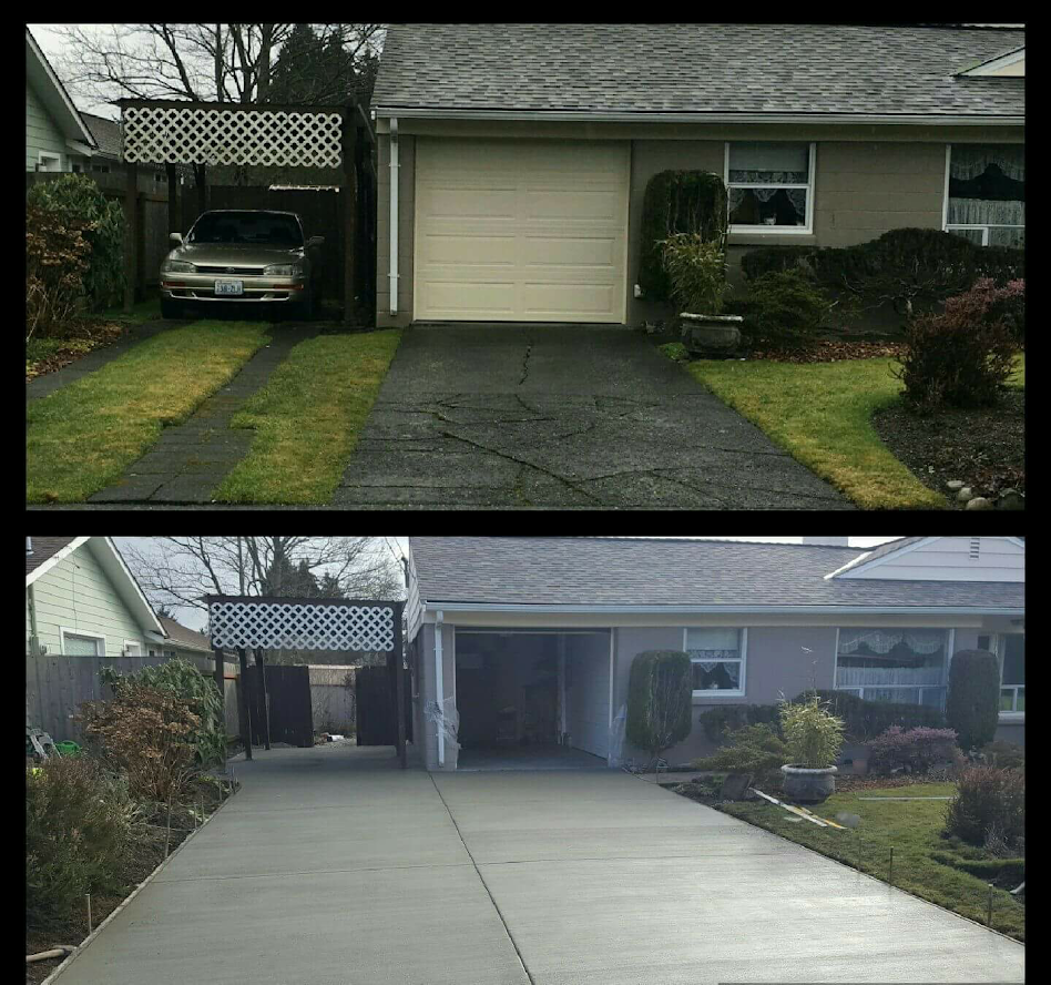 Before and After Broom Finish