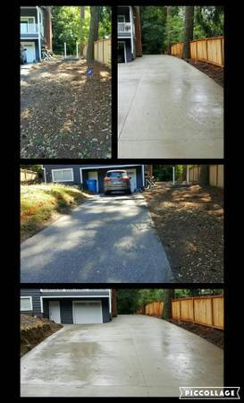 Broom Finish Driveway on Steep Grade