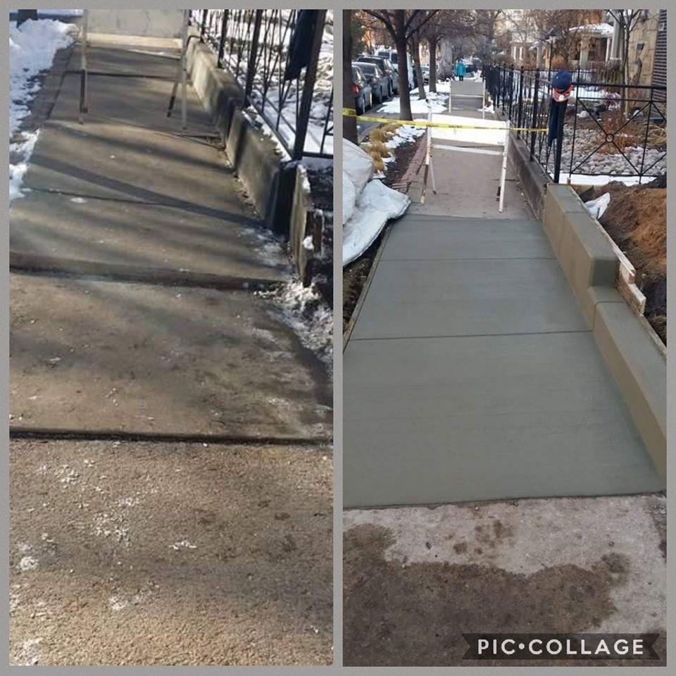 City Sidewalk and Curb ROW