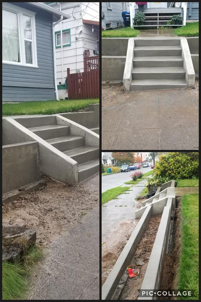 Concrete Stairs and Retaining Wall