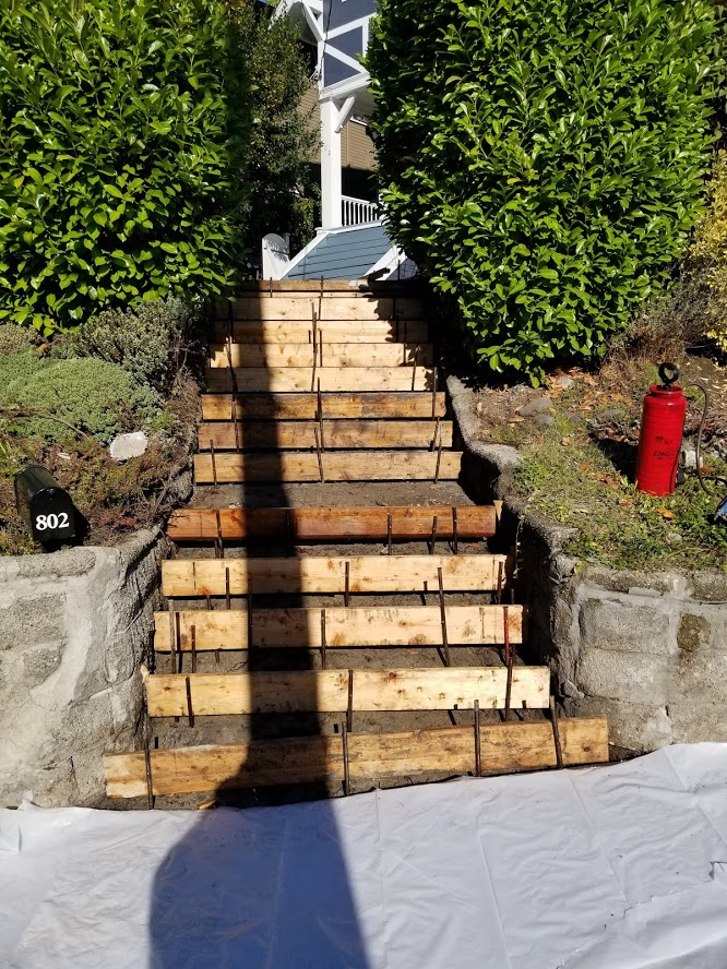 Front Stairs Form Work