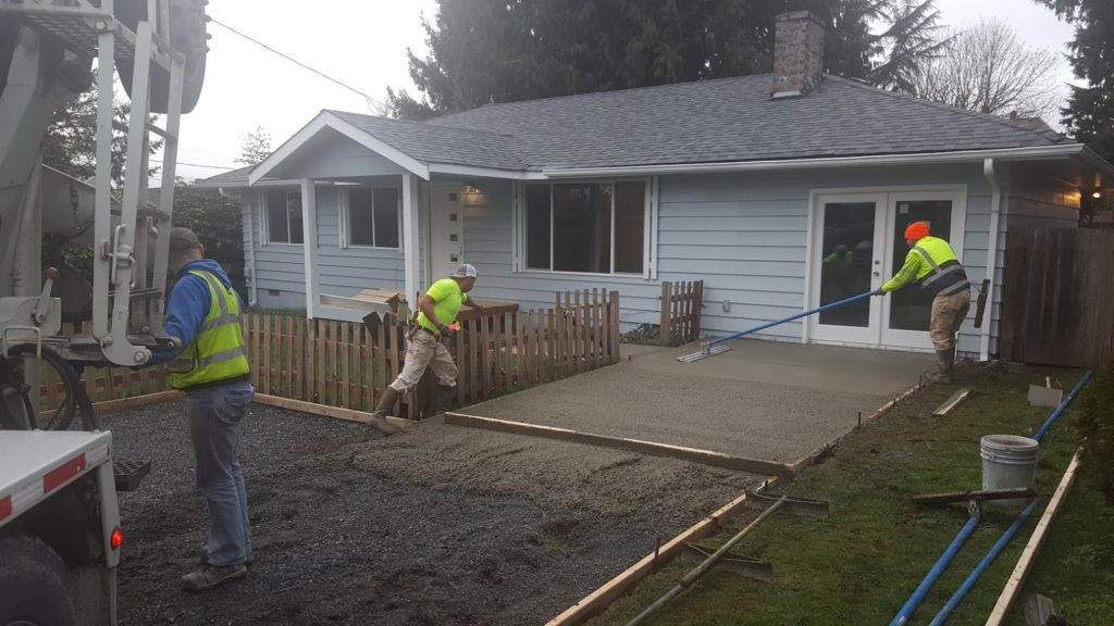 Pouring a Driveway Broom