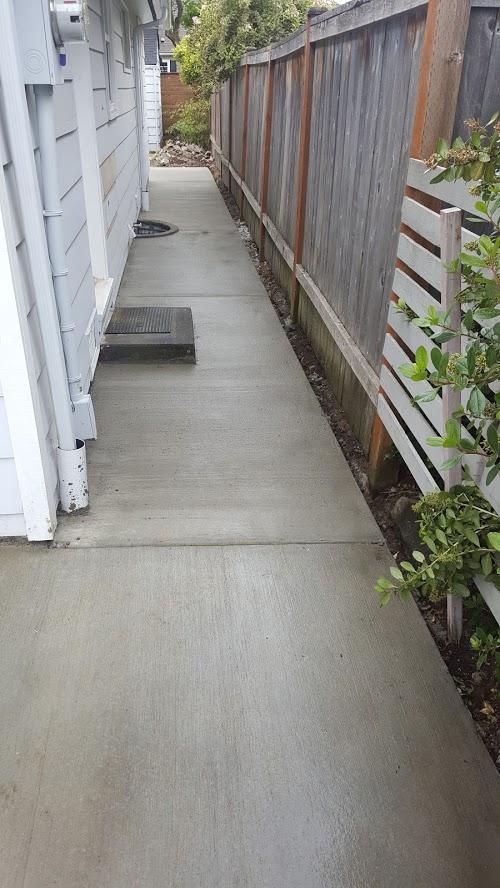 Side Broom Finish Walkway