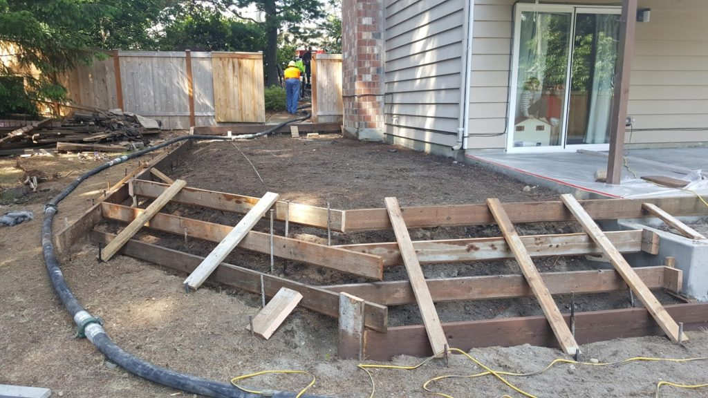 Side Secondary Broom Patio Form Work