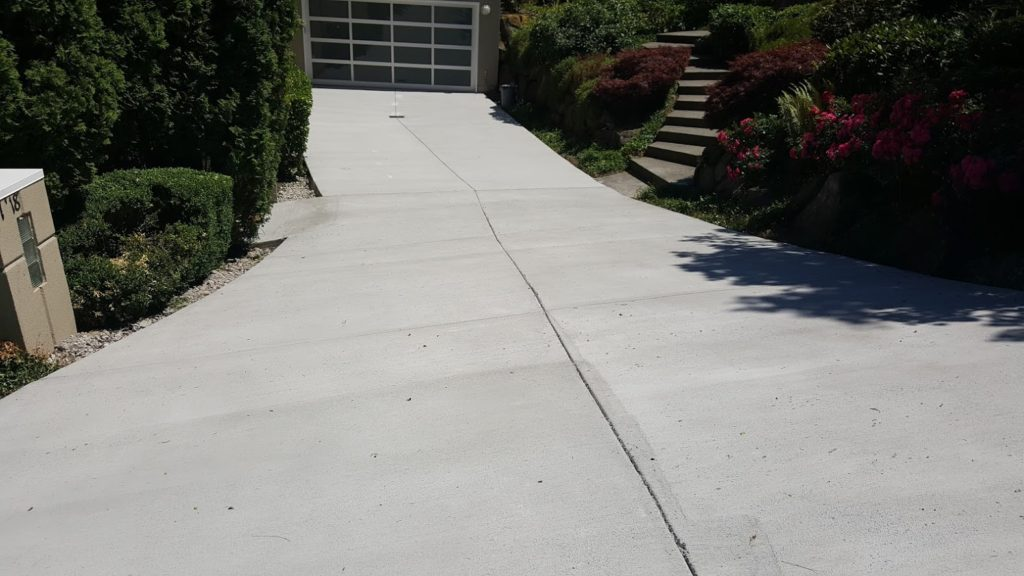 Steep Broom Finish Driveway